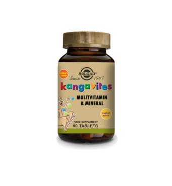 Кангавитес з мультивітамінами мінерал тропік (Kangavites Tropical Punch) Солгар №60