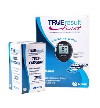 Глюкометр TRUEresult twist Nipro + 50 шт тест-полосок в подарок