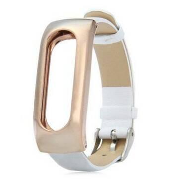 Ремешок для фитнес-браслета Mi Band Кожа White Xiaomi