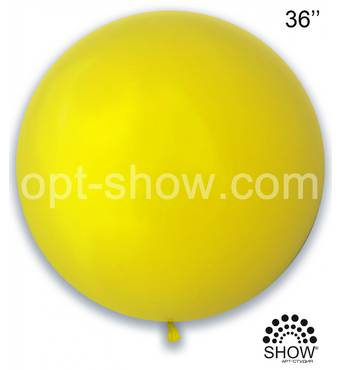 "Шар гігант жовтий 36"" (90 см) Арт Шоу"