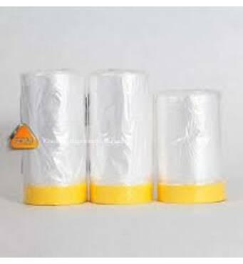 Защитная пленка с малярной клейкой лентой 1500*020