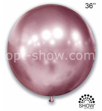 """Шар гігант Рожевий Хром 36"""" (90 см) Арт Шоу"""