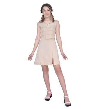 """Костюм детский для девочки летний юбка с топом  М -155-90    тм """"Попелюшка"""" 128"""