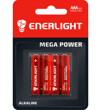 Батарейка ENERLIGHT MEGA POWER AAA BLI 4