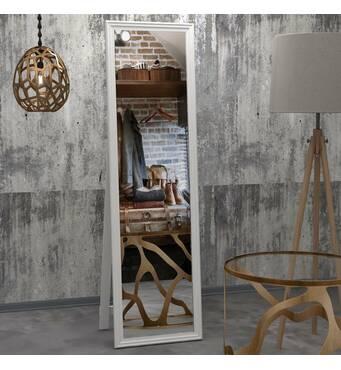 Зеркало напольное, 168х48 см, белое