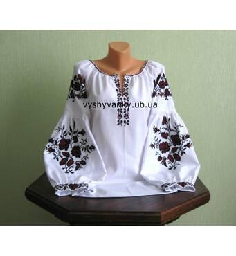 cтаринная украинская вышитая сорочка женская