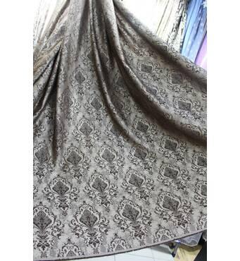 Ткань для штор корона коричневая в зал, спальную