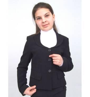 """Пиджак школьный для девочки м-924 рост 158 164 170 черный тм """"Попелюшка"""" 164"""