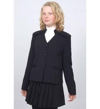 """Пиджак школьный для девочки м-875 рост 116 и 122 черный тм """"Попелюшка"""" 122"""
