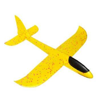 Літак планер світиться з пінопласту, 48 см Жовтий