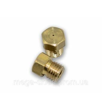 Жиклер для газових плит 6 мм (природний газ, дрібне різьблення) діаметр отвору 0,5 мм