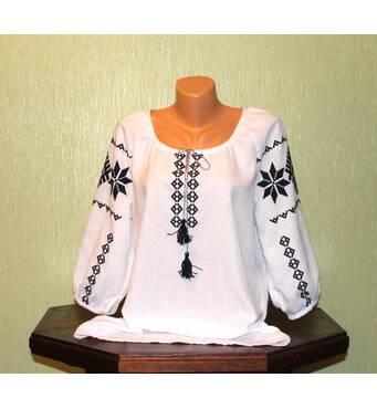 """жіноча сорочка з вишивкою """"Словянські символи - обереги"""""""