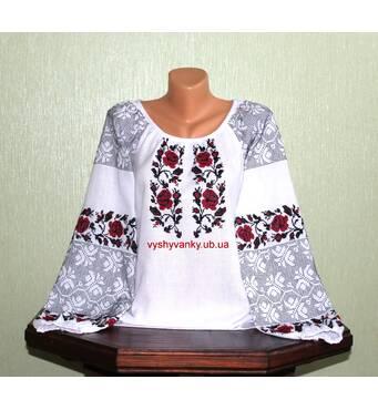 Украинская вышитая рубашка женская. Старинный узор. ручная работа