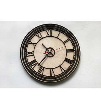 Дизайнерський настінний дерев'яний годинник Big Ben