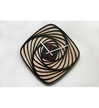 Дизайнерський настінний дерев'яний годинник Trend