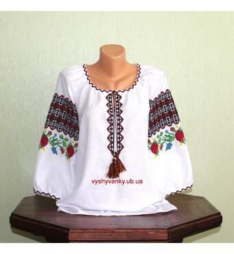 Буковинская вышиванка женская ручной работы