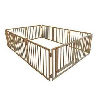 Манеж дитячий дерев'яний 72 см 10 секцій з воротами