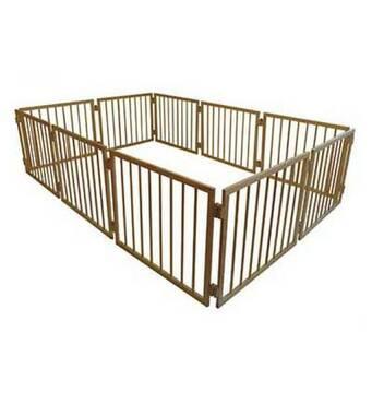 Манеж дитячий дерев'яний 63 см 10 секцій