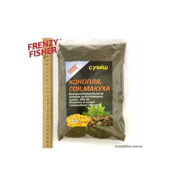 Прикормка FF конопля-соя-макуха 750 гр