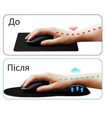Коврик для мишки Goobay Ergonomic Mousepad Black (77604)
