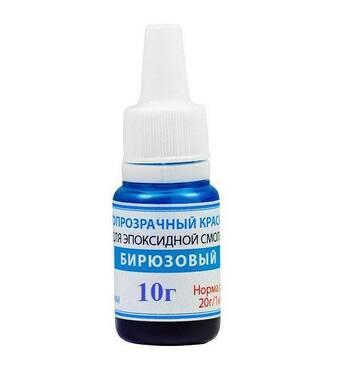 Краситель светопрозрачный жидкий Просто и Легко для эпоксидной смолы 10 г Бирюзовый (102SG 044 10)
