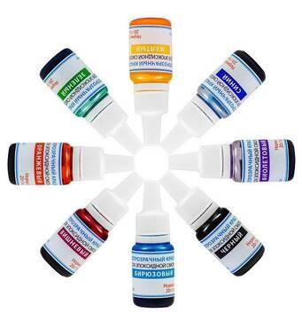 Красители светопрозрачные жидкие Просто и Легко для эпоксидной смолы набор из 8 цветов по 10 г (102SG 066 10)