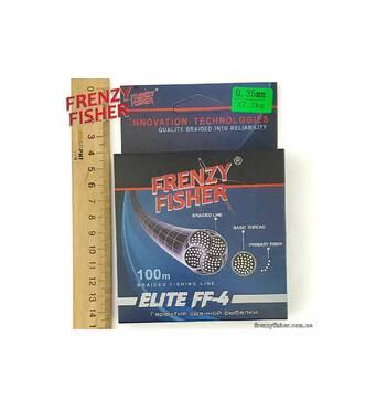 """Шнур FRENZY FISHER """"ELITE FF-4"""" 0,35мм 4-х жильний (100м)"""