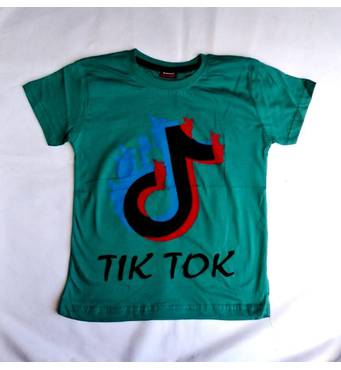 Футболка для мальчиков 8, 9, 10, 11 лет с принтом Tik Tok