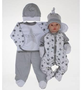 """Набір одягу для новонародженого в пологовий будинок Lari """"Ти є..."""". 56 білий"""
