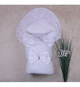 Зимовий конверт-ковдра Brilliantbaby Чарівність 90х90 см білий