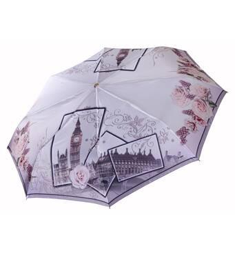 Панорамный зонт Три Слона САТИН ручка кожа ( полный автомат ) арт. L3845-3