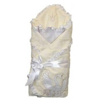 Конверт на виписку з пологового будинку Greta Lux Swan молочний