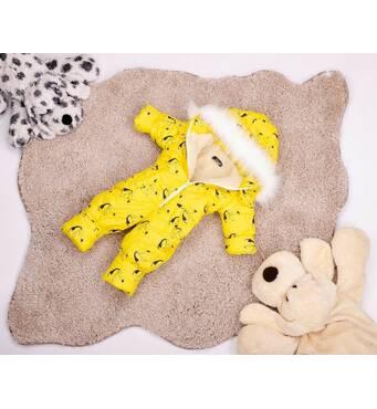 Комбінезон дитячий зимовий на овчині Natalie Look Тукани 122-128 см жовтий