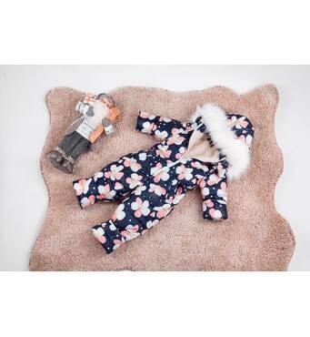 Комбінезон дитячий зимовий на овчині Natalie Look Фіалки 122-128 см