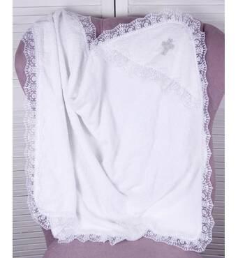 Крыжма для крещения махровая Lari Благодать 95х75 см белая