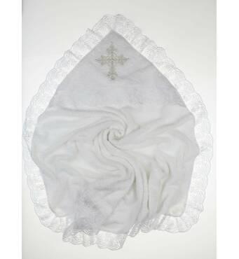 Крыжма для крещения махровая Lari Ласковая белая