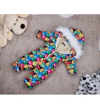 Комбінезон дитячий зимовий на овчині Natalie Look M&M's 80-86 см кольорової