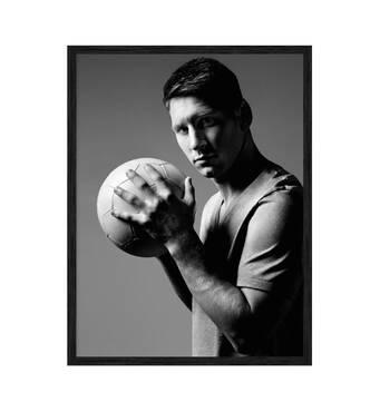 """Постер """"Messi Lionel"""" без скла 596x840 мм в чорній  рамці"""