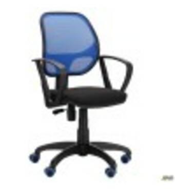 Крісло Біт Color/АМФ- 7 сидіння А- 1/спинка Сітка синя