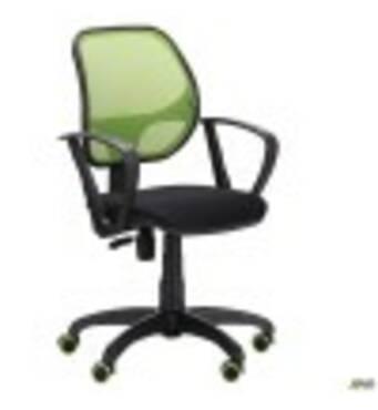 Крісло Біт Color/АМФ- 7 сидіння Сітка чорна/спинка Сітка салатова