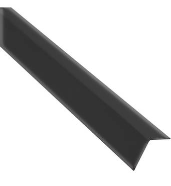 Пристінний L профіль 3000мм чорний  MONERTE