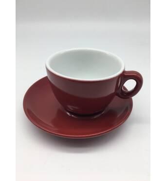Чашка з блюдцем для капучіно INKER Luna (250мл/16см)