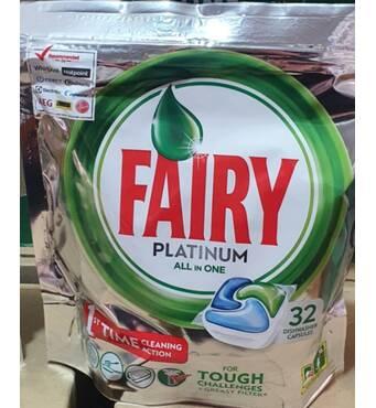 Капсули для посудомийки Fairy platinum 32 шт Бельгія