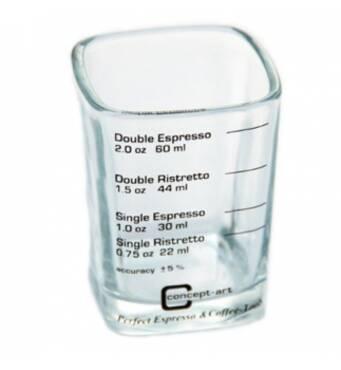 Прямокутна мірна скляночка Joe Frex із скла для кави