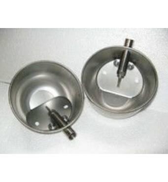 Автопоилка чашечного типа из нержавеющей стали для поросят, с загнутыми краями и винтом