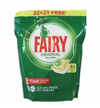 Капсули для посудомийки Fairy original все в 1 44 шт Бельгія