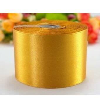 Стрічка  атласна  золотиста  5 см