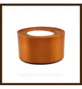 Стрічка  атласна  світло-коричнева  5 см