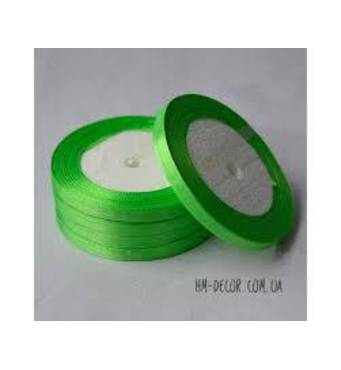 Стрічка атласна  яскраво-зелений  6мм