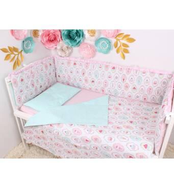 Тонкі борти захист в ліжечко тварини сіро рожевий